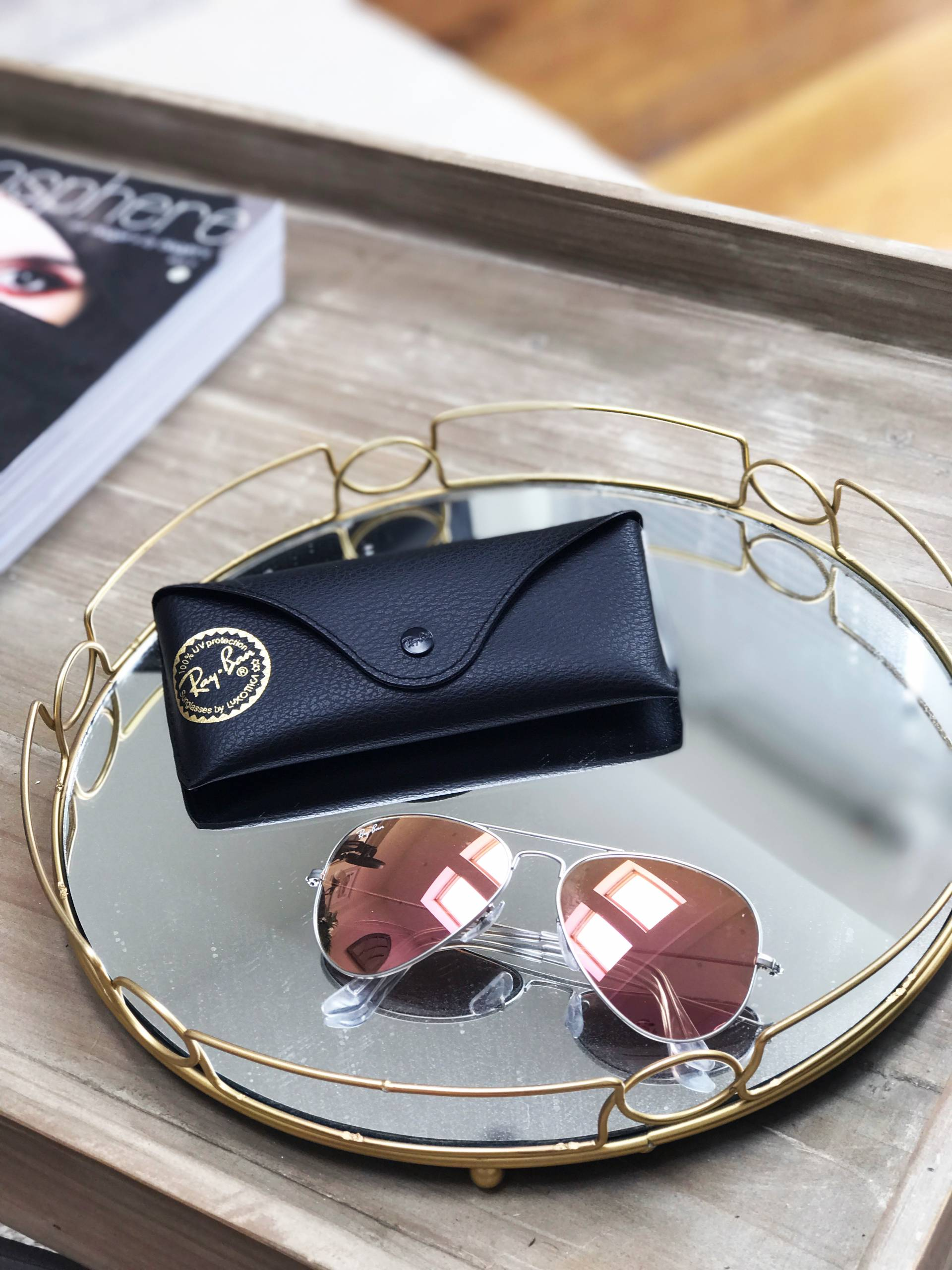 Debenhams Ray Ban Sunglasses Rose Gold